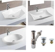 details zu waschbecken keramik aufsatz eckig oval handwaschbecken bad waschtisch