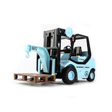100 Toy Forklift Truck 116 Scale Fork With Pallets Large Diecast Model