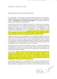 Carta De Renuncia De Silvia Guillen A La Magistratura De La CCJ