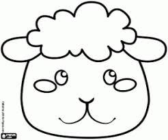 Sheep Mask A Groundhog Coloring Page