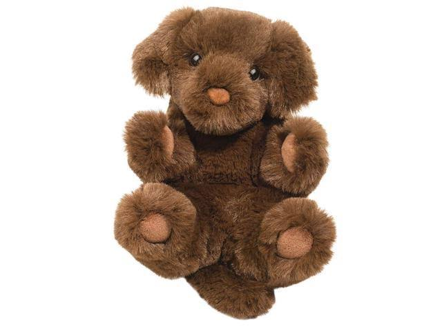 Douglas Toys Plush Chocolate Lab Lil' Handful Stuffed Animal, 6""