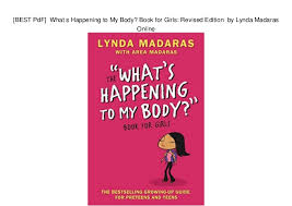 Lynda Madaras Online BEST PdF What S Happening To My Body Book For Girls Revised