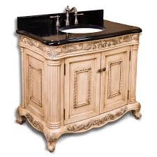 18 Inch Bathroom Vanity Cabinet by Antique White Ornate French Bathroom Vanity Buy Online White Wood