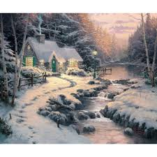 Thomas Kinkade Christmas Tree Village by Christmas Chapel I U2013 Limited Edition Art The Thomas Kinkade Company