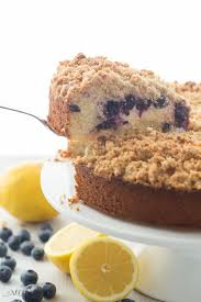This Lemon Blueberry Cream Cheese Coffee Cake is a soft moist