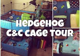 What Heat Lamp To Use For Hedgehogs by Hedgehog C U0026c Cage Tour 2015 Stacked 2x2 Youtube