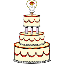 Blue Wedding Cake Clip Art