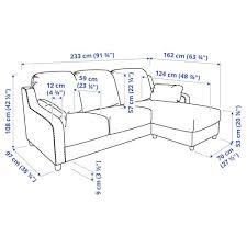 vinliden 3er sofa mit récamiere hakebo beige ikea schweiz