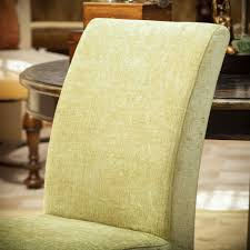 Green Printed Fabric Dining Chairs Set Of Great ...
