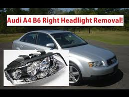 audi a4 b6 right passenger headlight removal replacement