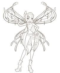 Winx Club Elvenpath Coloring Pages Printable For Children
