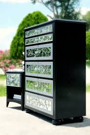mirrored mosaic 6 drawer tall dresser and nightstand with regard