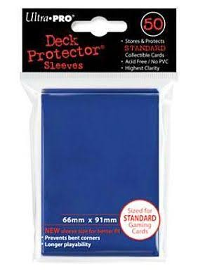 Ultra Pro Standard Deck Protector Sleeves - Blue, 50 ct