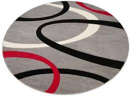 teppich bill my home rund höhe 10 mm mit handgearbeiteten konturenschnitt wohnzimmer