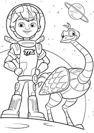 Free Coloring Page Disney Junior Pages Miles From Tomorrowland In Kids N Fun