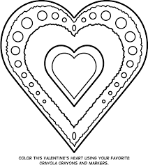 Grand Valentines Day Printable Coloring Pages Heart
