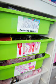 Easy Diy Toy Box by Small Space Toy Storage Solution Easy Diy Toy Labels And A Peek
