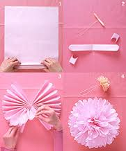 How To Make A Tissue Paper Flower For Birthday Parties Beading Buds Instructions