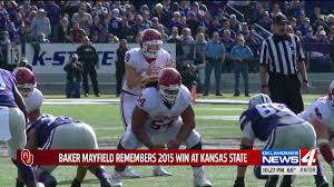 Mayfield Pumpkin Patch by Mayfield Reflects On Last Win At Kansas State Kfor Com