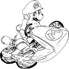 Mario Kart 8 Coloring Pages Super