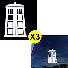 3pcs Dr. Who Tardis Whovian Police Box Die Cut Stickers For Car ...