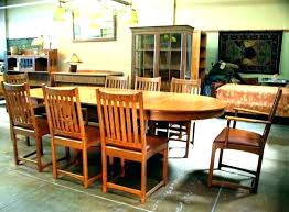 Mission Style Dining Room Set Table Chairs Plans Bassett