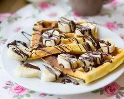 dessert rapide chocolat banane recette gaufres express chocolat banane facile rapide