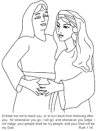 Naomi Bible Coloring Pages