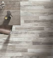 grey porcelain plank tile flooring wood style on floor and wall