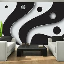details zu fototapete schwarz weiß 3d effekt abstrakt wohnzimmer geometrisch schlafzimmer