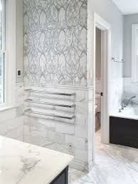 artistic tile i this master bathroom is all calacatta gold from