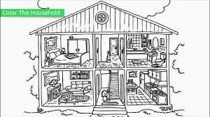 House Coloring Pages Page For Adults