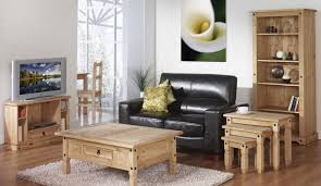 Living Room Wooden Furniture Solid Wood For Rustic Rendering Interior