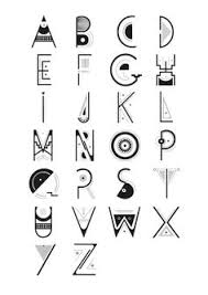 Alphabet Typo Caracter Precolombian By Gabrielle FERRY Via Behance Find This Pin And More On OCool Fonts