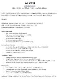 Medical School Resume Template 2 Example For High Students College Applications Examples Nurses