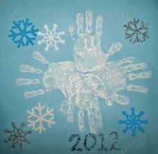 Handprint Snowflake Christmas Crafts For ToddlersDaycare