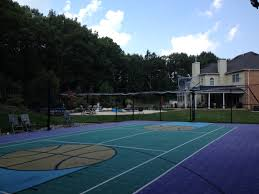 Full Size Backyard Basketball Court | Full Basketball Courts ... Triyae Asphalt Basketball Court In Backyard Various Design 6 Reasons To Install A Synlawn Home Decor Amazing Recreational Lighting Full 4 Poles Fixtures A Custom Half For The True Lakers Snapsports Outdoor Courts Game Millz House Cost Australia Home Decoration Residential Gallery News Good Carolbaldwin Multisport System Photo Diy Stencil Hoops Blog Clipgoo Modern
