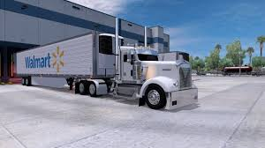American Truck Simulator KW W900 Day Cab On A Walmart Run !!! - YouTube