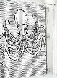 Swimming Octopus Shower Curtain by Sourpuss Clothing