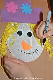 Cupcake Liner Scarecrow Craft