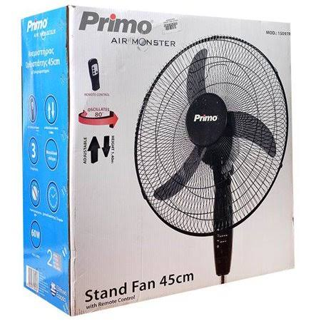 Air Monster Stand Fan - 18 inch Remote Control Oscillating Pedestal Stand Fan 3