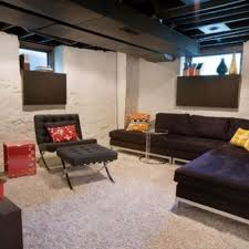 Unfinished Basement Ceiling Paint Ideas by Endearing Unfinished Basement Design Ideas With Brilliant