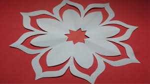 How To Make Simple Easy Paper Cutting Flower Designs DIY Tutorial By Step