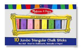 Amazon.com: Melissa & Doug 10 Jumbo Triangular Chalk Sticks: Melissa ...