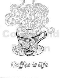 Coffee Coloring Book Page From The Humorous Color Therapy By Artist Barbara Ann Kenney Now Available On Amazon Her