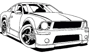 Mustang Racing Coloring Page