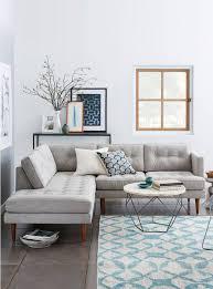 deco canapé decoration salon moderne gris deco canape d angle scandinave