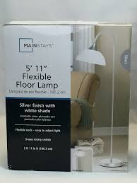 Mainstays Floor Lamp With Reading Light by Mainstays Jelly Gooseneck Floor Lamp Amazon Com