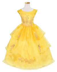 girls long yellow dress with short sleeves by calla 761 u2013 abc fashion
