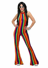 Groovy Dress Womens Sexy S Costumes Black Pants Adult And Party Vintage 70s Disco Clothing